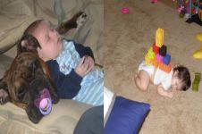 7 Kelakuan iseng orangtua ke anaknya saat tidur, lucu tapi kasihan
