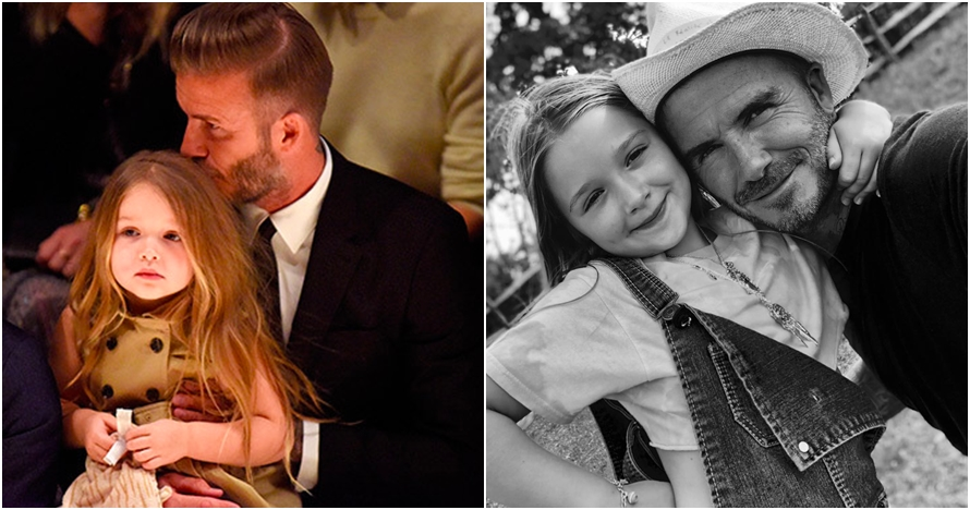 Momen langka David Beckham mencukur sendiri rambut putrinya