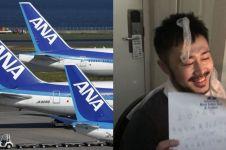 Naik pesawat first class saat ulang tahun, reaksi pria ini tak terduga