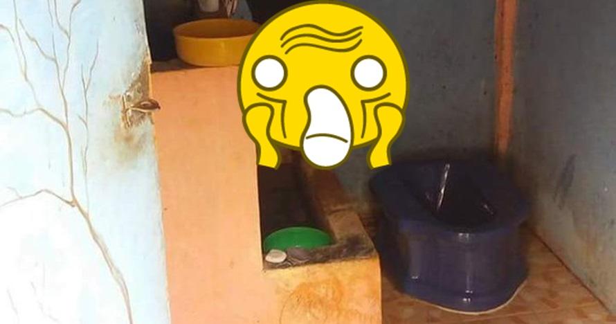 Gambar di WC umum ini bikin kamu yang penakut nggak jadi kebelet