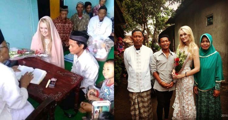 6 Bule cantik ini jatuh ke pelukan lelaki Indonesia, jodoh tak ke mana