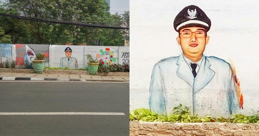 mural anies mirip fadli zon © Twitter/@YoGojekYo
