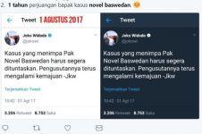 10 Cuitan soal 1 tahun twet Jokowi soal kasus Novel ini mak jleb