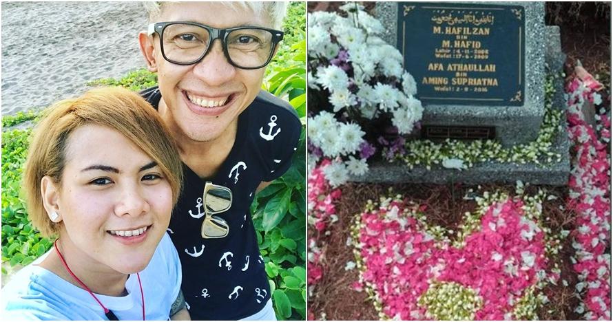 Kenang 2 tahun anaknya meninggal, ungkapan sayang Aming ini bikin haru