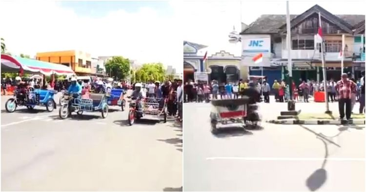 Balap becak motor ini cuma ada di Indonesia, ini penampakan serunya