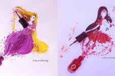 Cuma pakai cat kuku, 10 lukisan tokoh kartun ini kerennya kebangetan