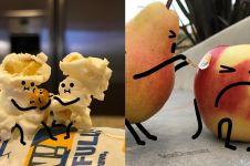 8 Foto editan jika makanan hidup di dunia nyata ini ngegemesin pol