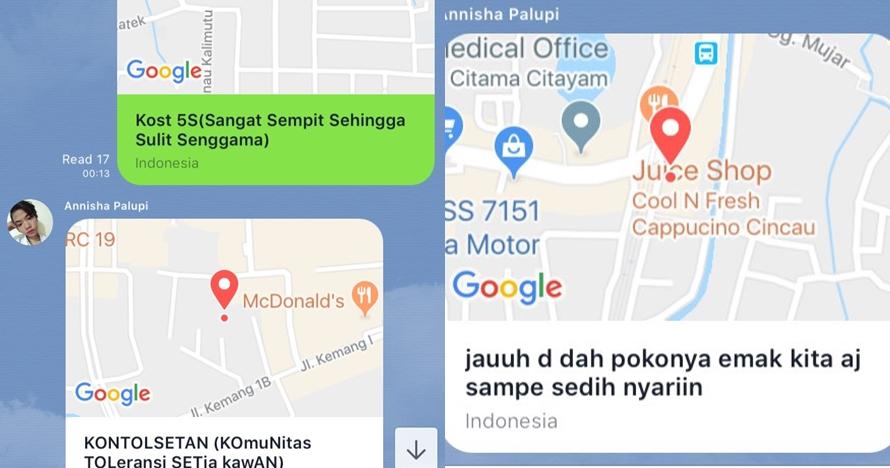 13 Nama unik lokasi di Google Maps ini bikin ngakak & mikir aneh-aneh