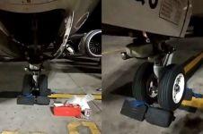 Ini yang terjadi pada pesawat yang sedang parkir saat gempa Lombok