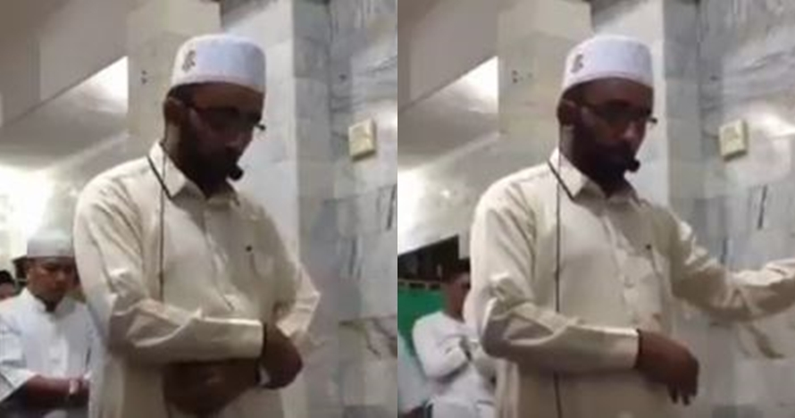 Ini video lengkap 14 menit imam bertahan baca ayat Alquran saat gempa