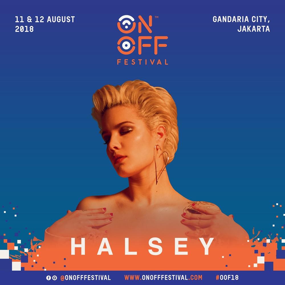 4 Hari lagi, penyanyi Halsey siap meriahkan ON OFF Festival