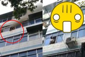 Apartemen terbakar, cara ibu selamatkan dua anaknya ini ngeri abis