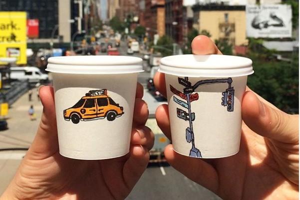 Lukisan cantik di 7 cup ini bikin kamu lupa kalo kopi itu pahit