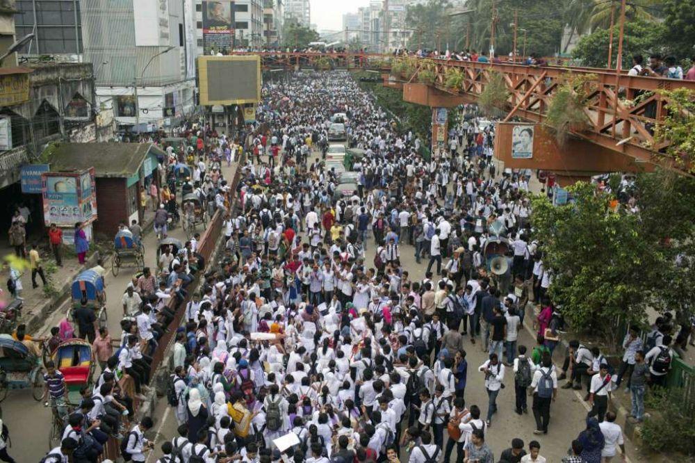 aksi protes di dhaka © 2018 brilio.net