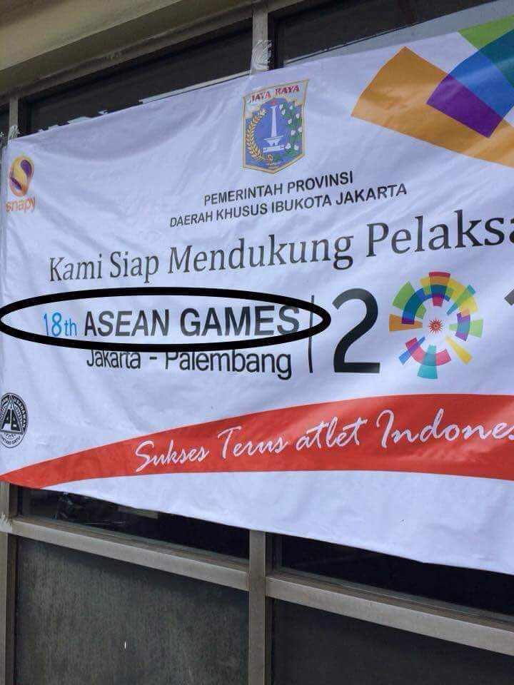 Spanduk Asian Games © 2018 Istimewa