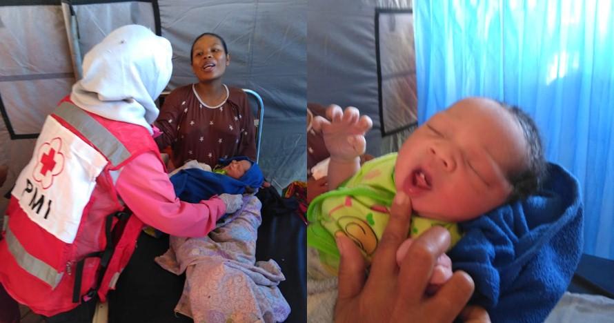 Bayi mungil lahir di pengungsian korban gempa Lombok, namanya unik