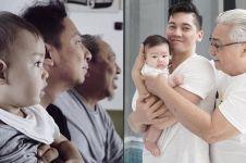 7 Potret keluarga seleb dalam konsep tiga generasi, mirip banget