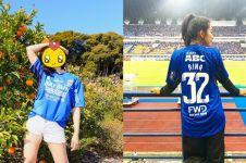 10 Pesona Rina, model imut asal Jepang fans berat Persib Bandung