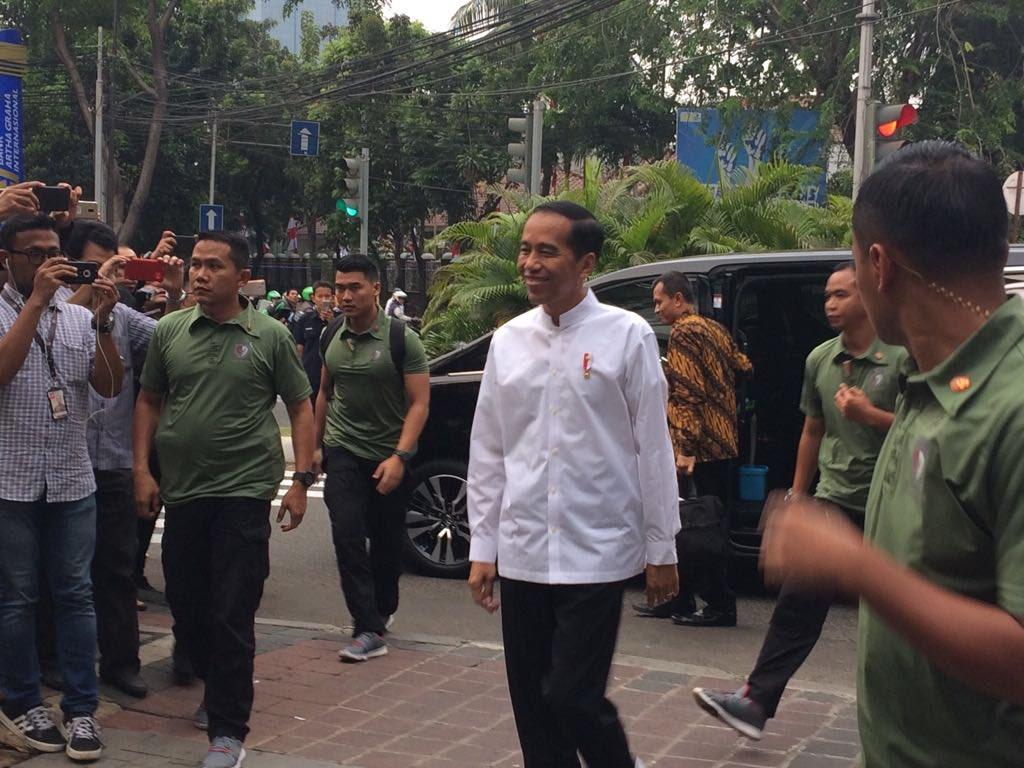 Ini detik-detik Jokowi dan koalisinya kumpul jelang deklarasi