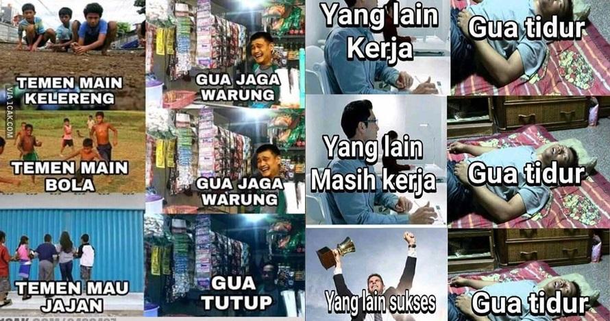 10 Meme 'aktivitas lo vs gue' ini kocaknya nampol abis
