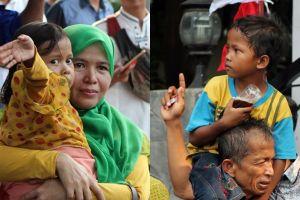 Ini dia 2 bocah yang sempat digendong Prabowo saat arak-arakan