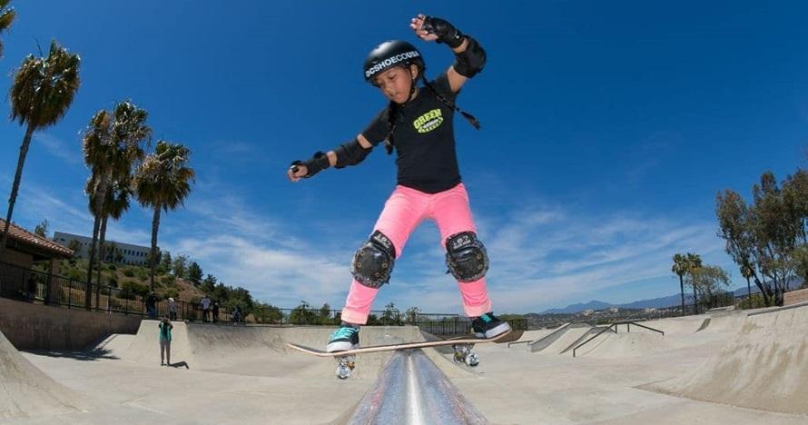 10 Potret Aliqqa, skater 9 tahun yang jadi andalan Indonesia di AG