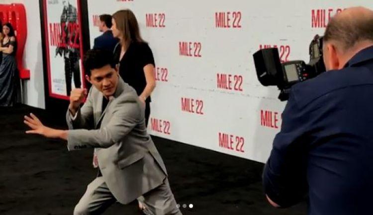 Ini 4 momen tak terduga Iko Uwais saat hadiri premiere Mile 22 di AS