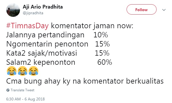 komentator twitter