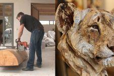 Bermodal gergaji & kayu, 11 karya pahatan ini detailnya bikin melongo