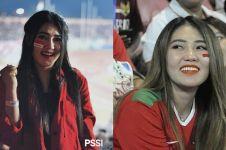 8 Momen seru Via Vallen nonton bola, dari Piala AFF sampai Piala Dunia