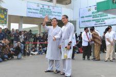 Prabowo & Sandi jalani tes kesehatan, infused water Sandi jadi sorotan