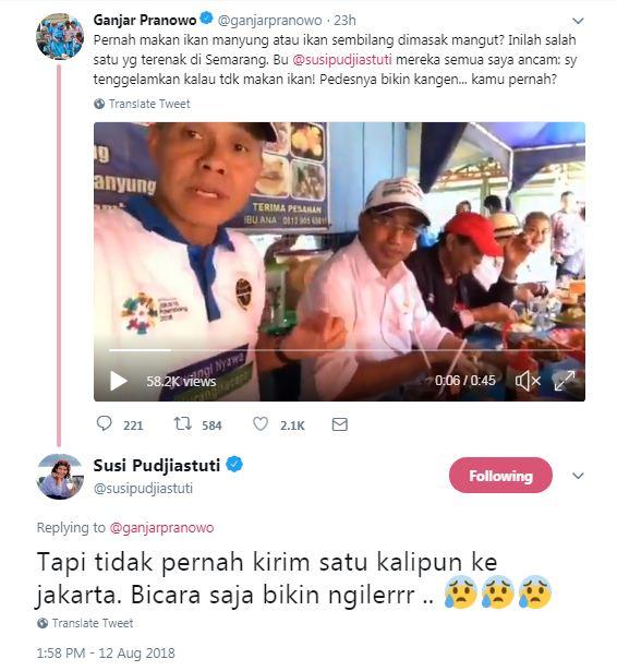 pamer makan ikan © 2018 Twitter