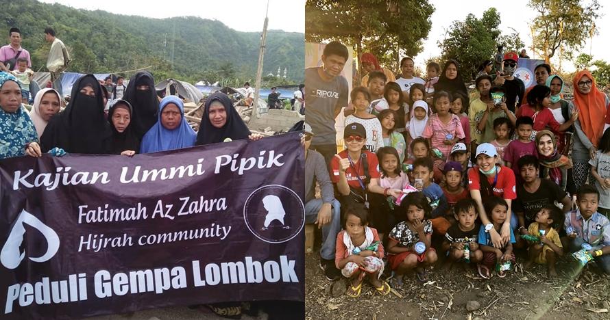 5 Seleb Tanah Air terjun langsung bantu korban gempa bumi di Lombok