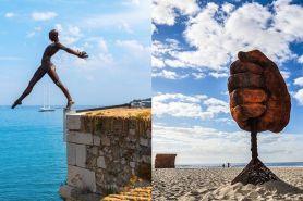 10 Desain patung ini perspektifnya menyatu dengan alam, bikin takjub!