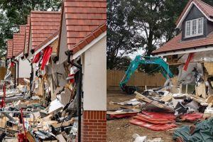 Tak kunjung digaji, pekerja ini ngamuk robohkan 5 bangunan rumah
