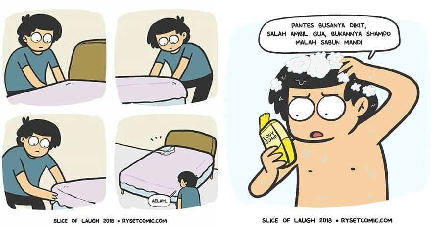 8 Komik strip 'masalah hidup sesungguhnya' ini bikin ngakak setuju