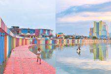 10 Potret menakjubkan kampung warna-warni di Danau Sunter