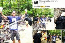 Bikin geram, pria ini tangkap 2 burung enggang dan posting di Facebook