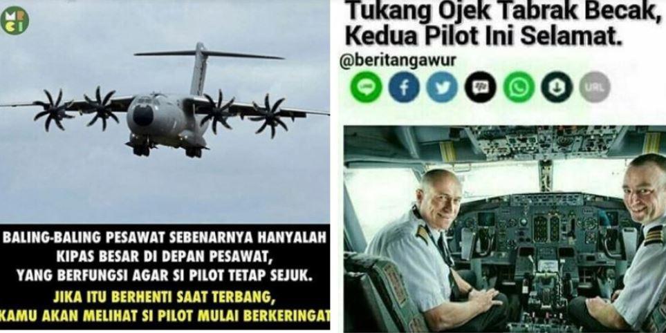 7 Meme receh 'seputar pilot' ini bikin kamu ngakak lupa daratan