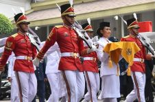 Pesona 12 pembawa bendera upacara HUT RI 2018 dari berbagai daerah