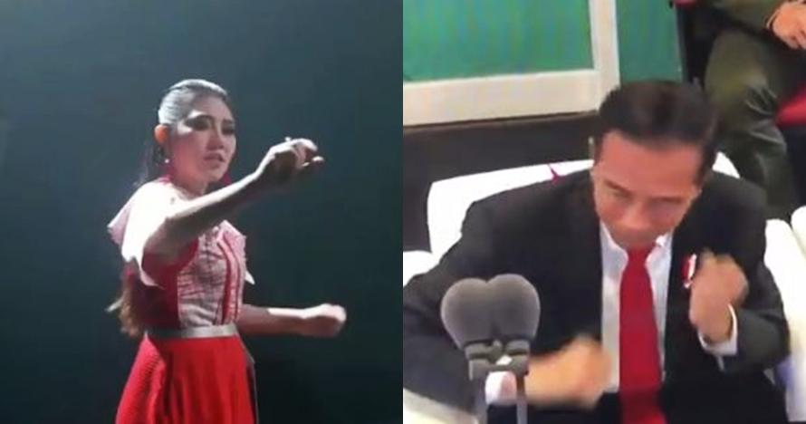Ini aksi Jokowi goyang dayung saat Via Vallen nyanyi Meraih Bintang
