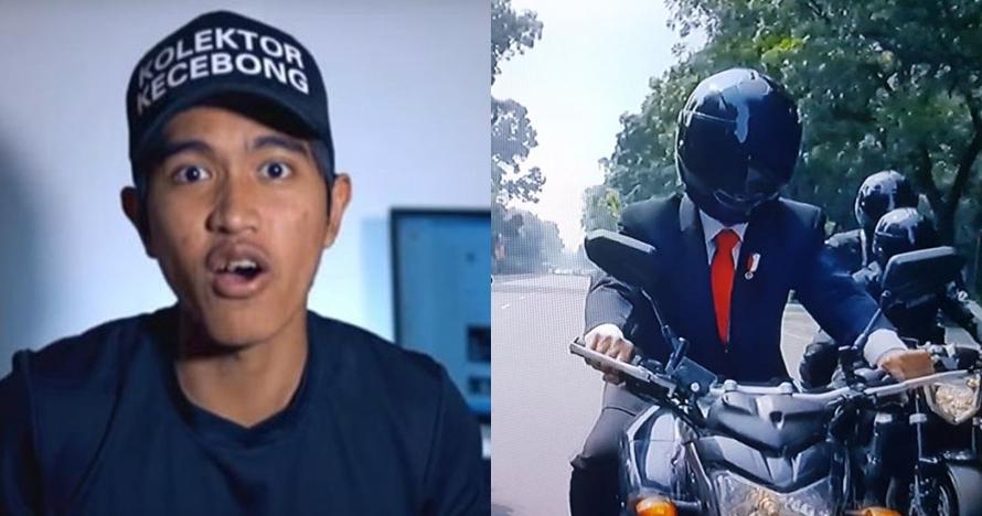Teka-teki stuntman Jokowi naik motor sport, ini jawaban Kaesang