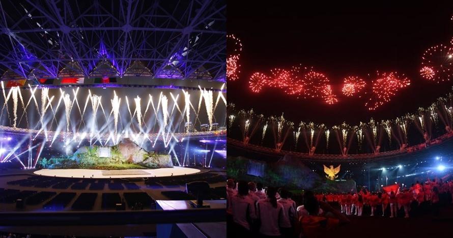 7 Potret spektakuler pesta kembang api di pembukaan Asian Games 2018