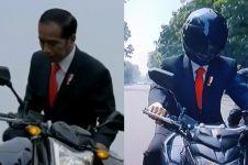 Aksi Jokowi naik motor sport jadi sorotan, ini jenis helm yang dipakai