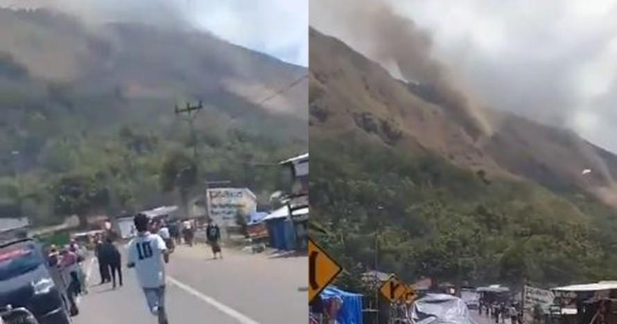 Lombok kembali diguncang gempa 6,5 SR, kawasan lereng Rinjani longsor