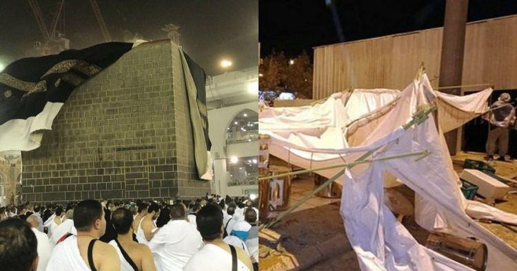 Hujan dan badai pasir melanda Arafah, ini 9 potret kondisi jamaah haji