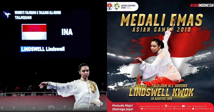 Lindswell raih emas, begini deretan prestasi si cantik Ratu Wushu Asia