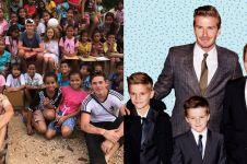 9 Potret keluarga David Beckham liburan sekaligus aksi sosial di Sumba