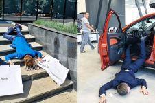 Lagi hits, ini 10 Potret 'jatuh tersungkur' tren terbaru Instagram