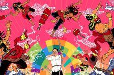 7 Ilustrasi bertema Asian Games ini keren abis, warna-warni Indonesia